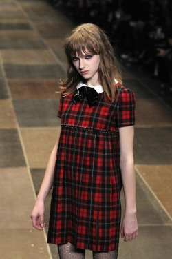 robe tartan Saint Laurent