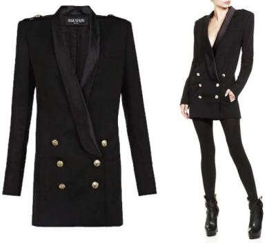 Balmain-Double-Breasted-Tuxedo-Dress3